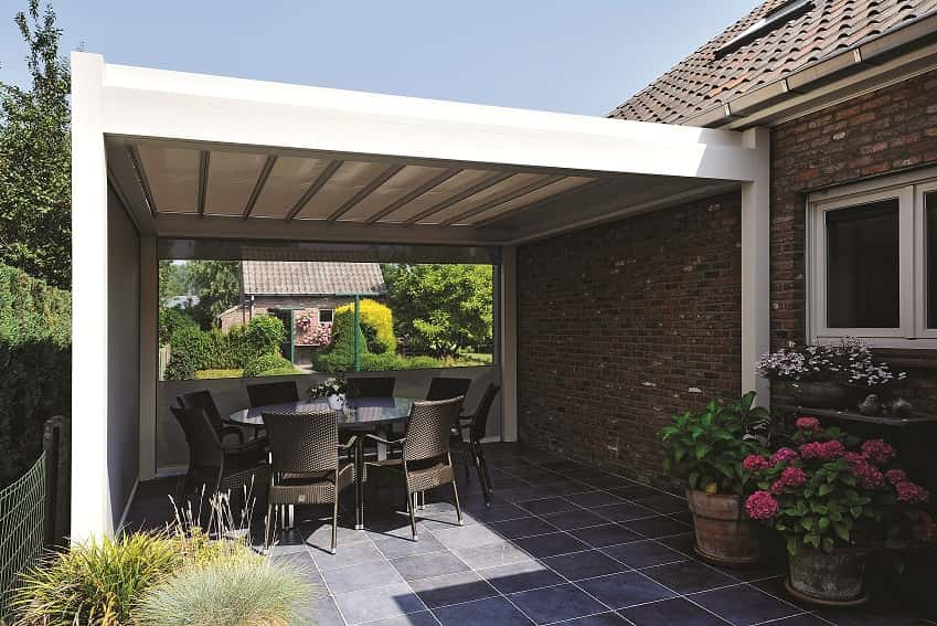 pergola terrasse li ge l abri du soleil sous un abri de terrasse. Black Bedroom Furniture Sets. Home Design Ideas